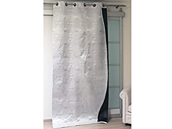 SATIN Blackout Double Sided Lined Eyelet Curtains   White