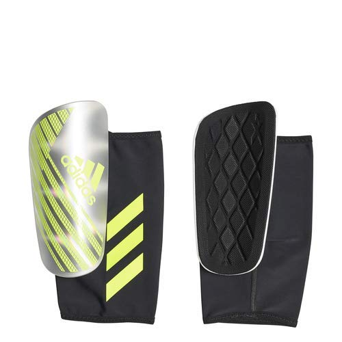 adidas X Pro Shinguard, Silver Met./Solar Yellow/White, Small