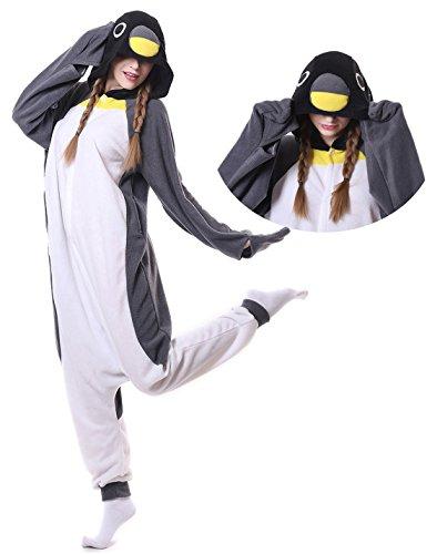 Penguin Onesie Adult Pajamas Halloween Cosplay Costume Homewear Lounge Wear