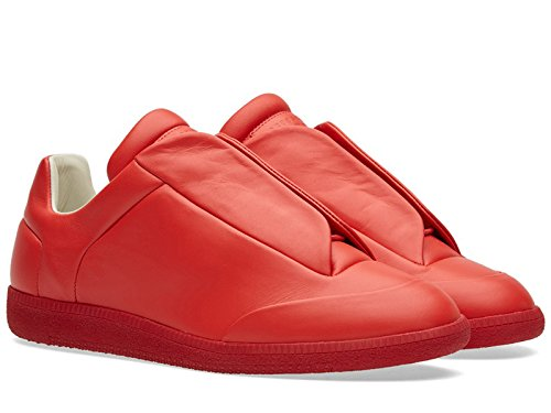 maison-margiela-mens-red-leather-sneakers-shoes-size-8-us