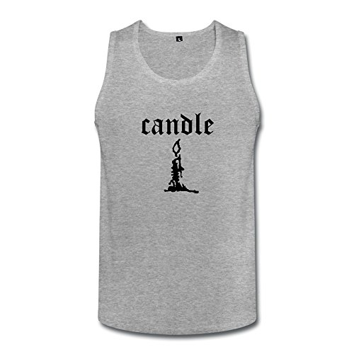 Candle Mens Candle Tanks Top HeatherGray ()
