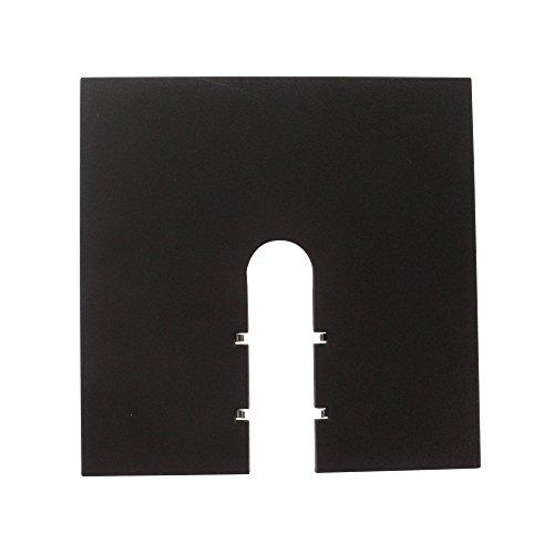 Lightolier 6060BK Lytespan Track Lighting Basic/Advent End Feed Canopy Kit, Black