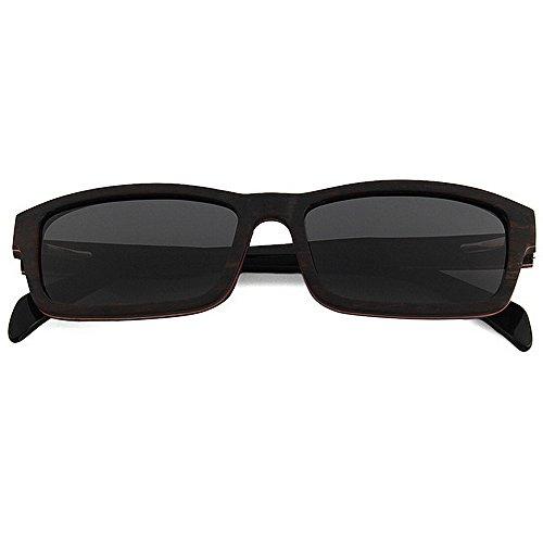 los de Madera protección Ultravioleta Hombres polarizadas Gafas de Gafas a Mano Retro Gafas de de la de la Sol Alta Sol Playa de Negro de Sol Sol Negro Playa Color de de Calidad Hechas Gafas la de 0dtWg0YqS