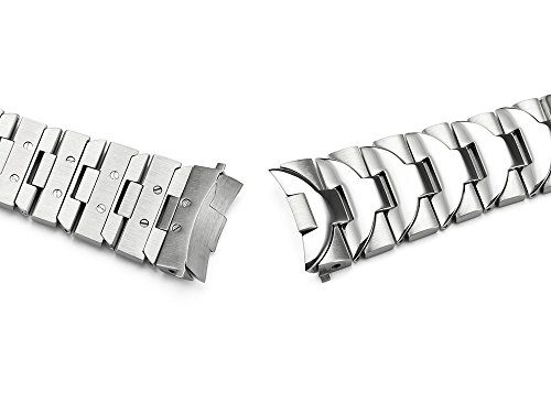 iStrap-24mm-Curved-End-Stainless-Solid-Steel-Polished-Metal-Watch-Bracelet-for-Panerai-44mm-Cases