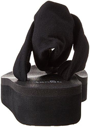 Black Sanuk Yoga Flop Sling Wedge Women Flip zzwqrYA