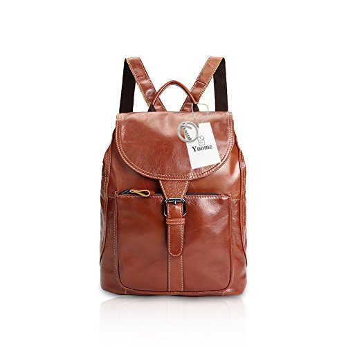 Women Wax Cool Ladies Orange Bag Style Oil Handbag Backpack Hasp Lily Shoulder Lady's Leather Yoome dAwTYxd