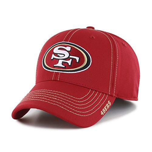 NFL San Francisco 49Ers Adult Start Line Ots Center Stretch Fit Hat, Medium/Large, Red
