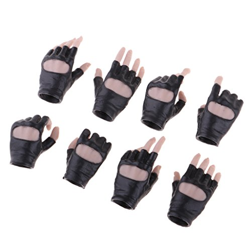 Strada Glove - MagiDeal 1/6 Scale PHICEN Female Body Gloves Hand For 12inch Action Figure Black