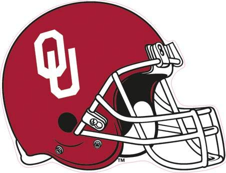 5 Inch Football Helmet OU University of Oklahoma Sooners Boomer Sooner Logo Removable Wall Decal Sticker Art NCAA Home Room Decor 5 by 4 Inches ()