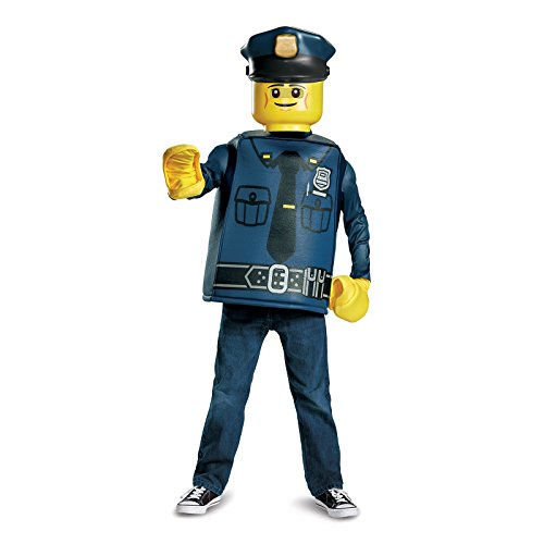 LEGO Police Officer Classic Costume, Blue, Large (Minifigure Costume)