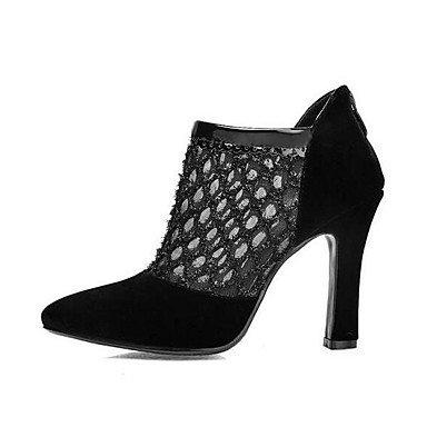 Schuhe Heart Für Komfort Stiefel Pumps PU Normal Schwarz Damen amp;M Sommer qgHTrgEx