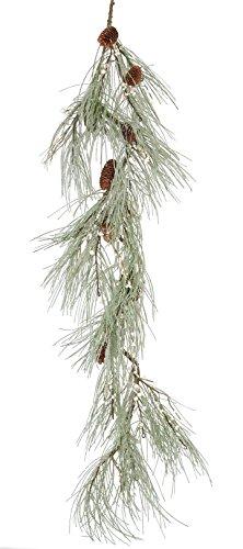 Fantastic Craft Pine and Berry Garland, 5-Feet, Cream Snow FM741 CREAM