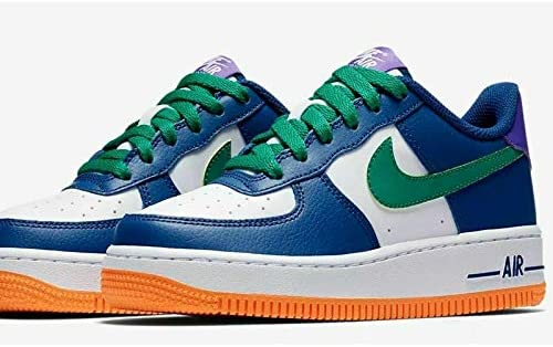 Nike Original Air Force 1 Trainers Green Blue White Orange 596728 407