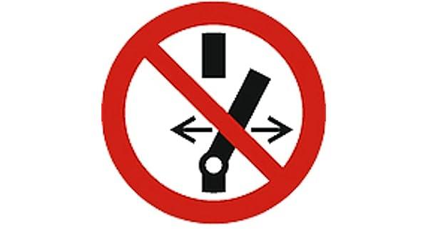 Cartel prohibición de caracteres según ISO 7010 - schalten ...