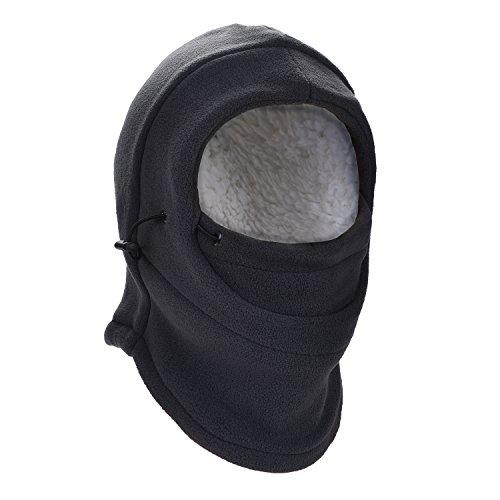 HZTG Children Winter Windproof Cap Warm Balaclava Full Face Cover Mask (Dark Grey)