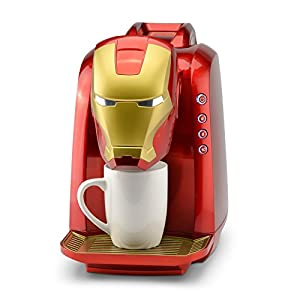 Marvel MVA-802 Iron Man Single Serve Coffee Maker Red/Gold