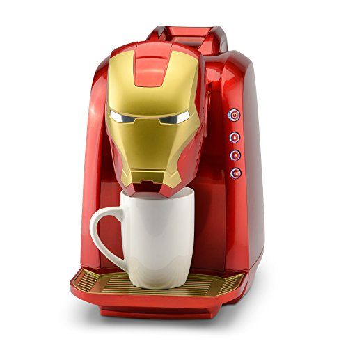 Marvel MVA-802 Iron Man Single Serve Coffee Maker, Red/Gold