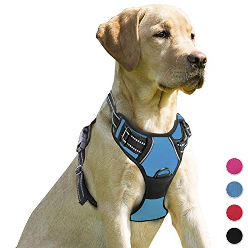 (BARKBAY No Pull Dog Harness Front Clip Heavy Duty Reflective Easy Control Handle for Large Dog Walking)
