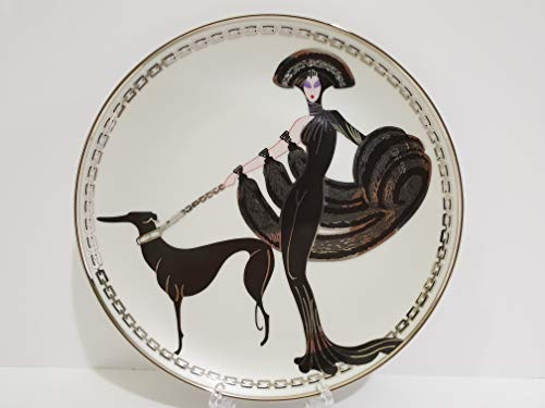 Franklin Mint The House of Erte Symphony in Black Collectors Plate