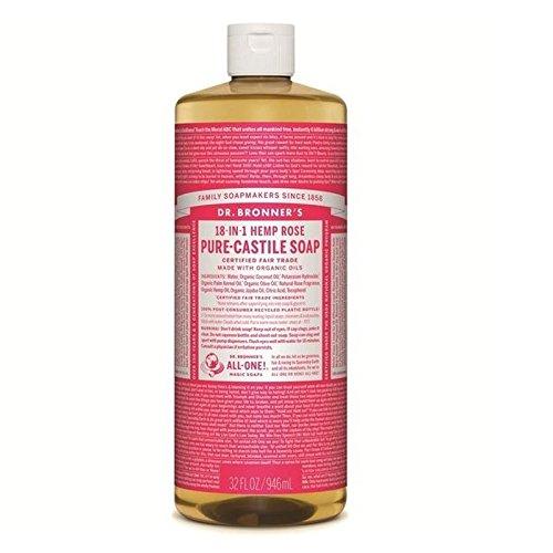 Dr Bronner Organic Rose Castile Liquid Soap 946ml
