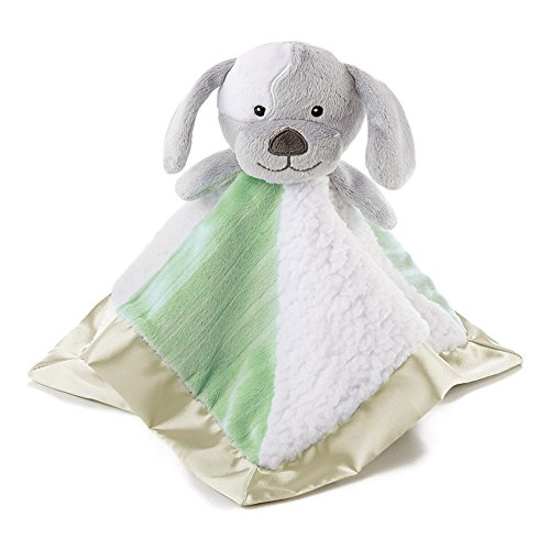 Snoozies Cozy Little Lovies Plush Satin Baby Blanket - Puppy