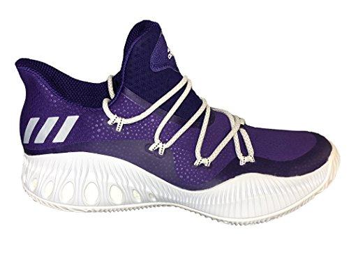 Adidas Gek Explosieve Lage Schoen Basketbal Van Mensen Paars-wit-core Zwart