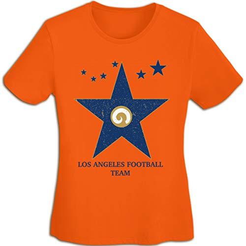 (MiiyarHome Women's T-Shirts St. Louis Rams, Girls Tee Short Sleeves Ladies Teen Jersey Shirt Orange S)