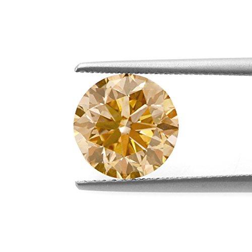 Be You Champagne Couleur Zircone Cubique AAA Qualité Diamant Coupe Rond Forme gemme