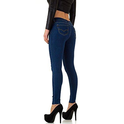 Elastische Skinny Jeans Für Damen , Blau Kl-J-Dj693- In Gr. 36/S bei Ital-Design
