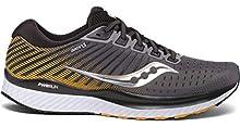 Saucony Men's S20548-45 Guide 13 Running Shoe, Grey/Yellow - 8.5 M US