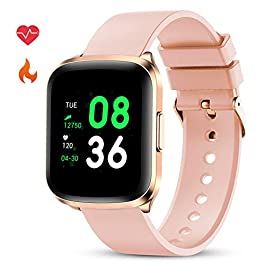 GOKOO Smart Watch for Men Women Fitness Tracker with All-Day Heart Rate Monitor Waterproof IP68 Slee