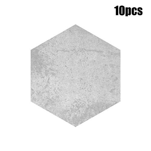 XoiuSyi 10Pcs Self Adhesive Tile Floor DIY Kitchen Bathroom Anti-Slip Stickers Decor (E)