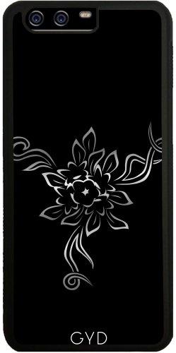 Funda de silicona para Huawei P10 - Flores Elegantes Negro De Plata by Nina Baydur