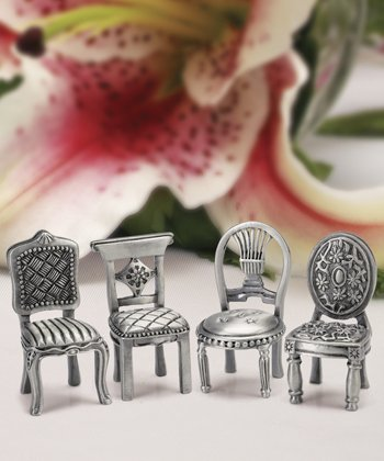 Pewter Place Card Holders (Pewter Chair Place Card Holder - 1 Individual Place Card Holder)