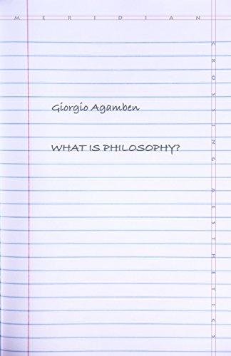 What Is Philosophy? (Meridian: Crossing Aesthetics)