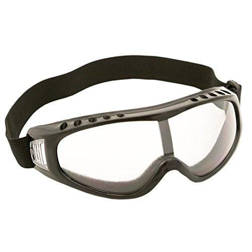 TukTek Tactical Paintball Goggles Eye Protection Glasses w/ Black Frame Safety Lens Clear Gray Silver Multi-Color for Airsoft Motorcycle Dirt Bike Shooting Ski & Snowboard ()