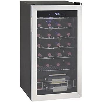 Smad 35 Bottle Freestanding Compressor Wine Cooler,Stainless Steel Frame