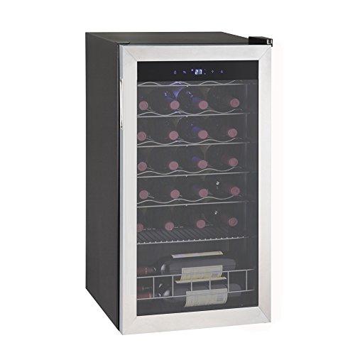 Smad Single Zone 28 Bottles Freestanding Wine Cellars Stainless Steel Frame