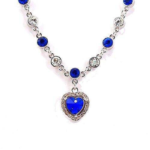 NL-02102C7 Crystal Alternative Heart-Shaped Women Necklace