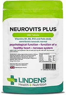 Lindens Neurovits Plus en comprimidos   360 Paquete   Contiene vitaminas B1, B6, B12