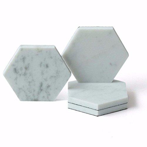 Caravan Marble Hexagon Coasters (Pack of 4)
