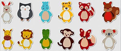 Best Baby Animal Stickers 12 Pieces - For Happy Moments
