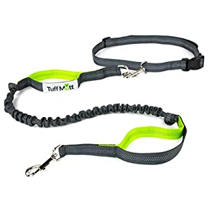Tuff Mutt – Hands Free Dog Leash Running, Walking, Hiking, Durable Dual-Handle Bungee Leash, Reflective Stitching, 4… Click on image for further info.