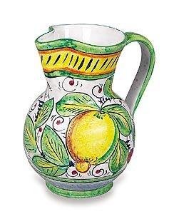- Hand Painted Frutta Mista Pitcher - Handmade in Deruta