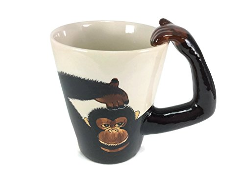 Mug Monkey Chimpanzee Enamel Cartoon Painted Milk Glass Coffee cup Cute Mugs Mug for Kid (Bike Buoy Mug)