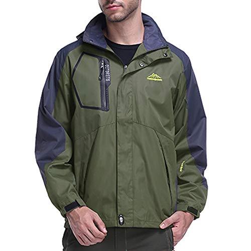(NRUTUP Men's Clothing Deals, Men's Hoodie Zipper Hat Removable Sport Assault Outdoor Coat Jacket Top Outwear(ArmyGreen,XXXXXXXL))