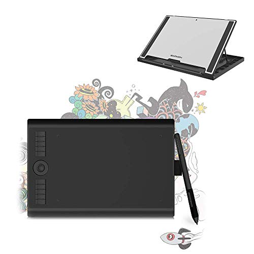 GAOMON M10K PRO 10 x 6.25'' Tilt & Radial Support Drawing Tablet Can Work on Android OS & PC ,Comes with GAOMON Tablet Stand GMS01