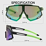 AOKNES Polarized Sports Sunglasses for Men Women