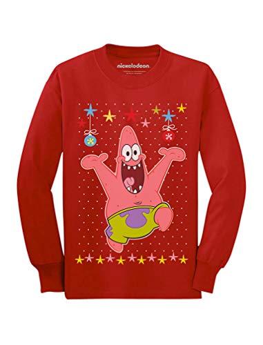 Spongebob Holiday Ugly Christmas Sweater Patrick Youth Kids Long Sleeve T-Shirt X-Large -