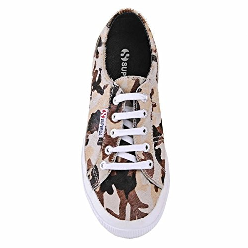 Superga 2750-leahorseu - Zapatillas de deporte Unisex adulto CamoBeigeBrown-Black